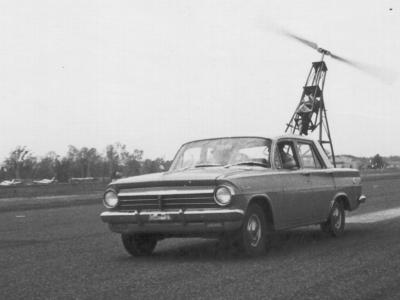 Prototype behind car